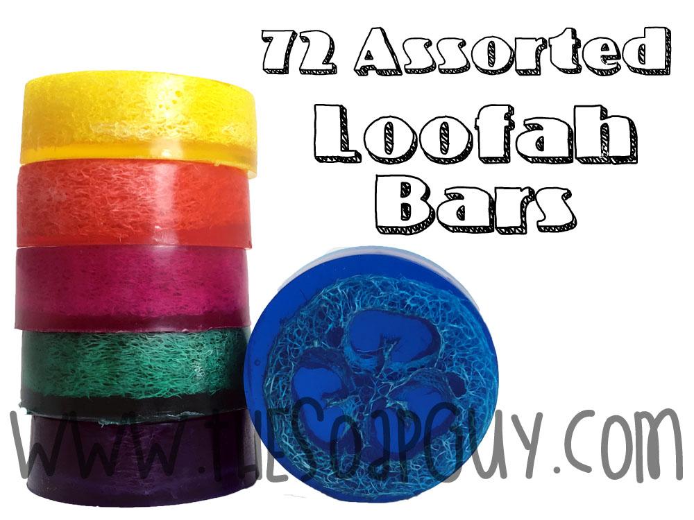72 Assorted Luffa Soaps