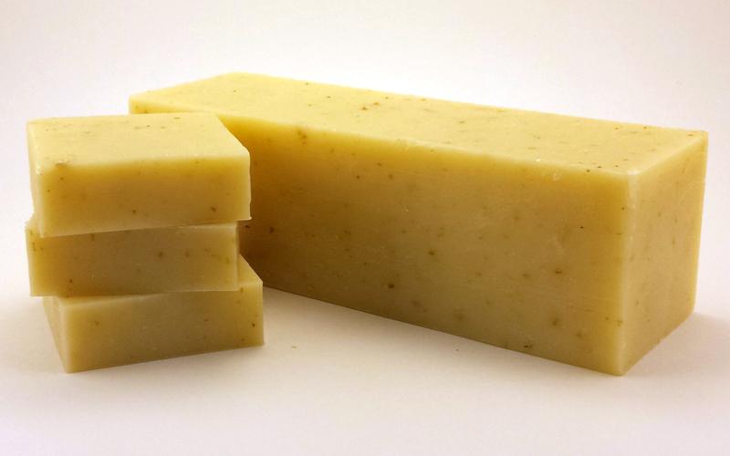 Wholesale Goats Milk Soap Loaf - Minty Lavender